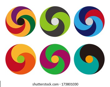 Loop icons. Design logo vector template. You can use in the commerce, app, financial, traffic, construction ,spinning and communication concept of pattern.