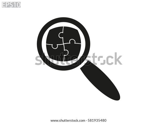 loop puzzle icon, vector illustration eps10