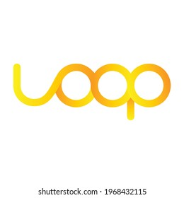 Loop vector logo with infinity symbol on white background