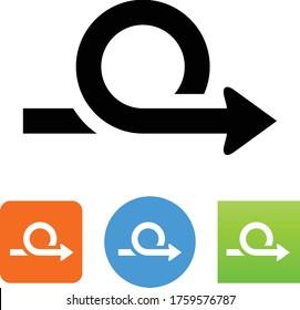 Looping Circular Arrow Vector Icon