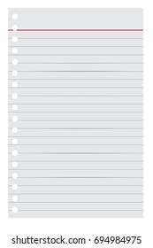 Loose leaf Paper for Your Background or Element Design, isolated on White