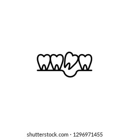 loose tooth icon vector illustration