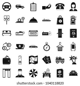 Loot icons set. Simple set of 36 loot vector icons for web isolated on white background