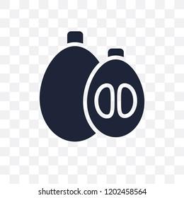 Loquat transparent icon. Loquat symbol design from Fruitandvegetables collection. Simple element vector illustration on transparent background.