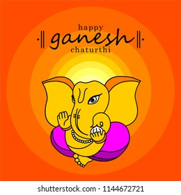 Lord Ganesha in a divine look