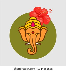 Lord Ganesha with flower
