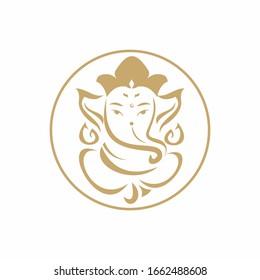 Lord Ganesha logo design on white background