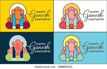 Lord Ganpati background and layout for Ganesh Chaturthi, the festival of India