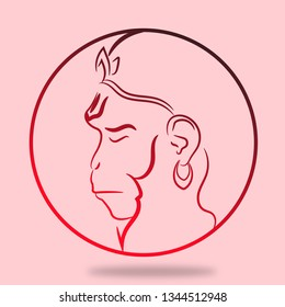 Hanuman Line Art Images Stock Photos Vectors Shutterstock