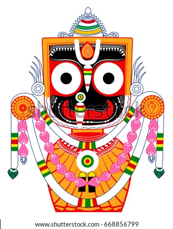 Lord Jagannath Or Jagannatha Means Lord Of The Universe Colorful Pattachitra Created On 30th June