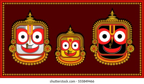 Lord Jagannath Krishna of Puri Odisha hindu god India