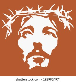 Lord Jesus looking sky vector with high quality vector quality, will make your t-shirt design and home wall design look so clear