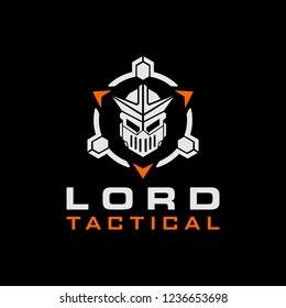Lord Knight Tactical Military logo design