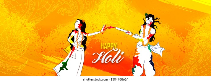Radha Krishna Holi Images, Stock Photos & Vectors | Shutterstock