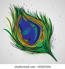 Lord Krishna Magical Feather.