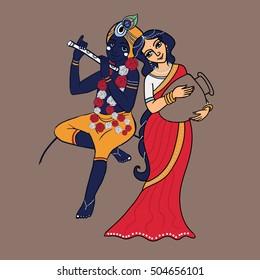 Krishna Paintings Images Stock Photos Vectors Shutterstock