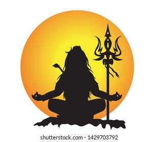 Lord mahadev vector graphic design.