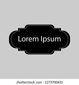 Lorem Ipsum sign.Frame sign