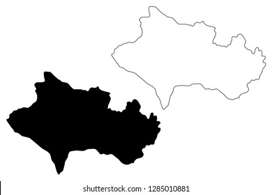 Lorestan Province (Provinces of Iran, Islamic Republic of Iran, Persia) map vector illustration, scribble sketch Luristan (Lurestan,Loristan) map