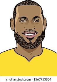 Los Angeles, CA - 11/22/2019: Basketball player LeBron James