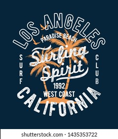 Los Angeles, California vector illustration, for t-shirt print and other uses.