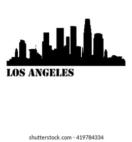 Los Angeles City Vector Silhouette Background Illustration