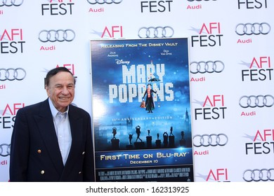 """LOS ANGELES - NOV 9:  Richard M. Sherman at the AFI FEST """"Mary Poppins"""" 50th Anniversary Commemoration Screening at TCL Chinese Theater on November 9, 2013 in Los Angeles, CA0"""