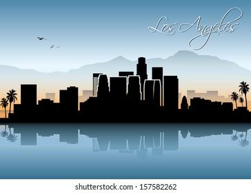 Los Angeles skyline - vector illustration