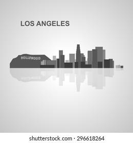 Los Angeles skyline  for your design, concept Illustration.