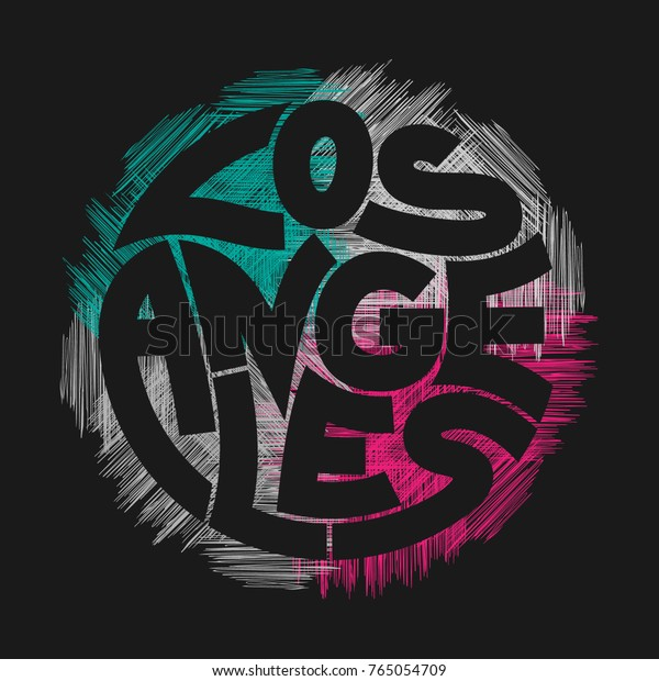 Los Angeles Typography Graphics Concept Vintage Stock Vector Royalty Free 765054709