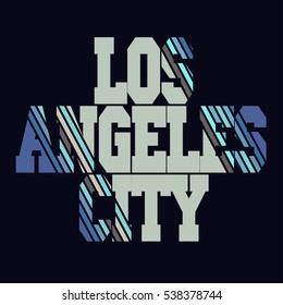 Los angeles typography, t-shirt graphics. Vector illustration