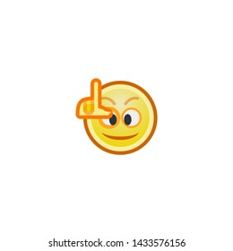 Loser Face Vector Icon. Isolated Loser Emoji, Emoticon, Illustration