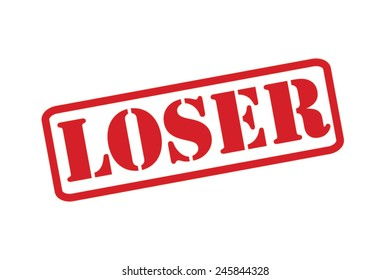 LOSER  Red Rubber Stamp vector over a white background.