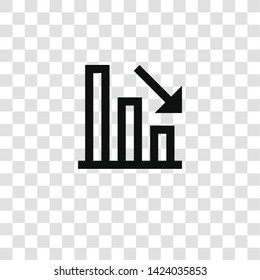 loss icon from miscellaneous collection for mobile concept and web apps icon. Transparent outline, thin line loss icon for website design and mobile, app development