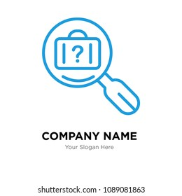 lost and found company logo design template, Business corporate vector icon, lost and found symbol