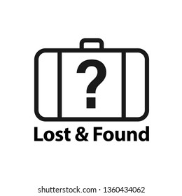 Lost & found icon. Clipart image isolated on white background
