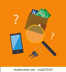 Lost and found vector illustration.