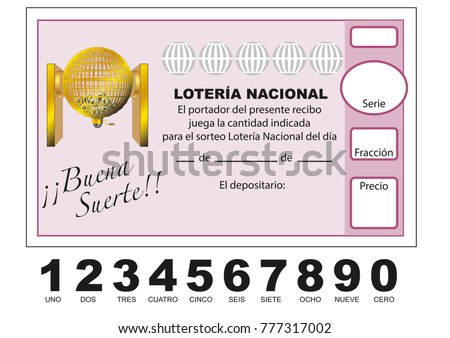 Stock Vektory Na Tema Loteria Nacional Spanish National Lottery