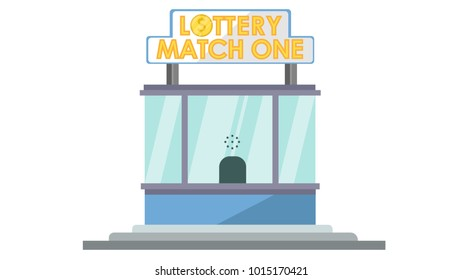 Lotery store isolated vector illustration