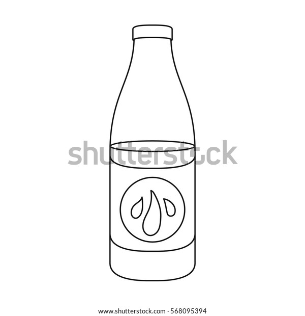 Lotion icon in outline style isolated on white background. Skin care symbol stock vector illustration.