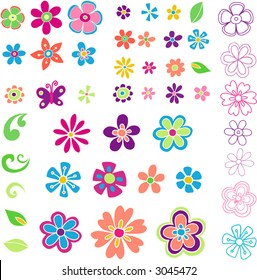 Lots of Flowers- Vector Illustration
