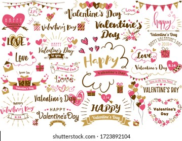 Lots of letter designs for Valentine's day