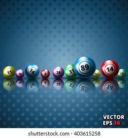Lottery balls background vector illustration