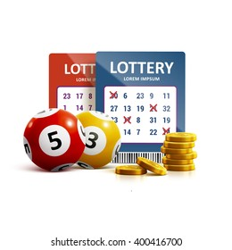 lottery icon realistic objects eps 10