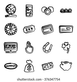 Lottery Icons Freehand