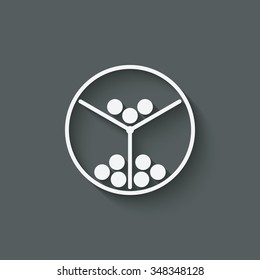 lottery machine symbol. vector illustration - eps 10