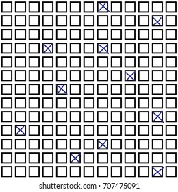LOTTERY RUBRIC FIELD WITH FILL IN. SEAMLESS VECTOR PATTERN
