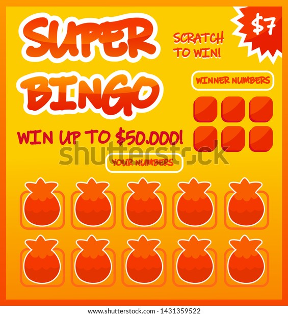 Lottery Ticket Vector Lucky Bingo Card Stock Vector (Royalty