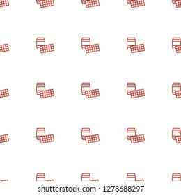lotto icon pattern seamless white background. Editable outline lotto icon. lotto icon pattern for web and mobile.