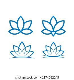lotus floral flat style icon